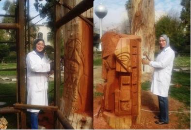 Die Schwestern Ragaa und Safaa Oabi, Bildhauerinnen