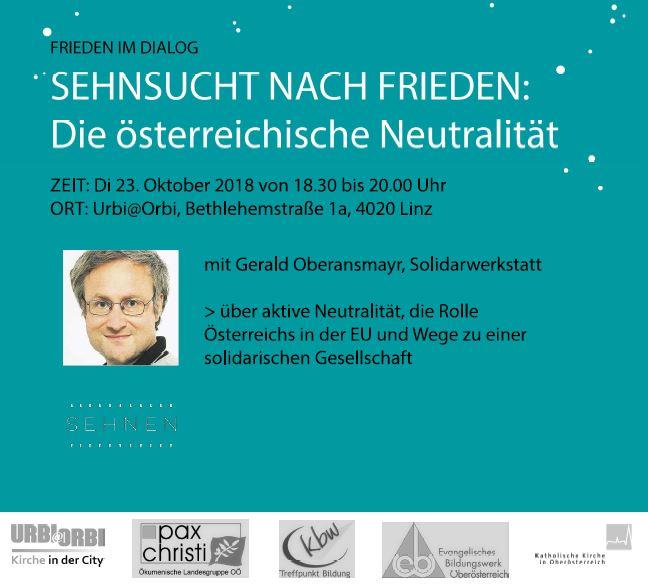 Frieden Im Dialog Sehnsucht Nach Frieden Die österreichische